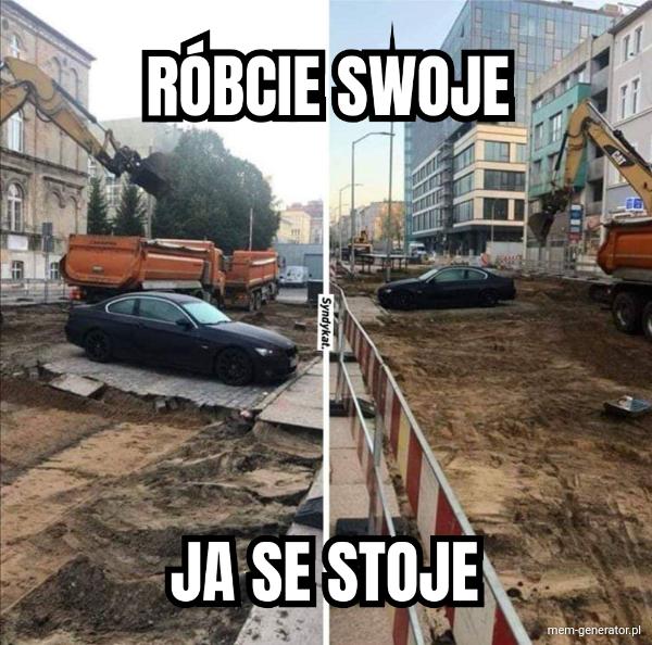 BMW na placu budowy