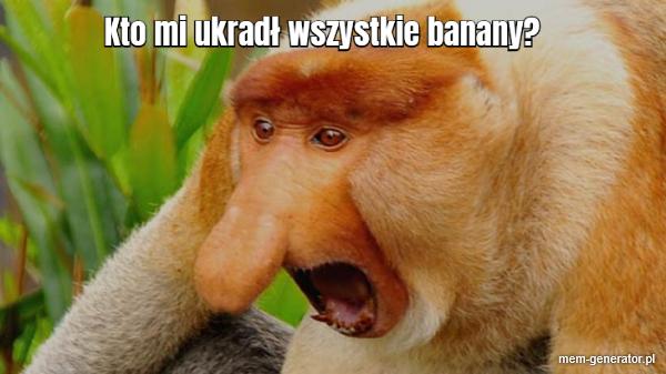 Kto mi ukradł banany?