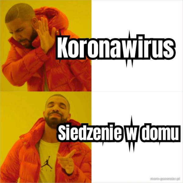 Koronawirus siedzenie w domu